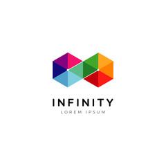 Abstract Geometric Infinite Logo Symbol Icon