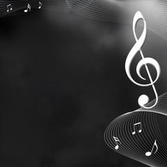 音楽のイメージ背景  音符ト音記号