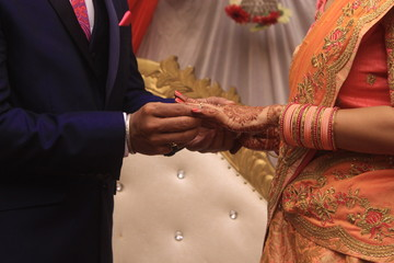 Indian wedding ring ceremony
