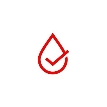 blood sauce drop check logo vector icon illustration