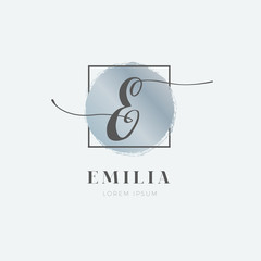 Simple Elegant Initial Letter E Logo Type Sign Symbol Icon