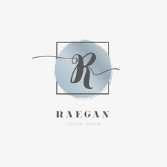 Simple Elegant Initial Letter R Logo Type Sign Symbol Icon