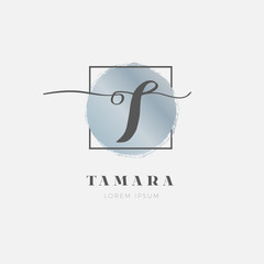 Simple Elegant Initial Letter T Logo Type Sign Symbol Icon