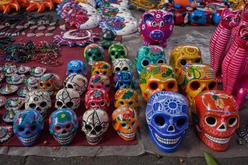 Mexican skull calavera traditional souvenir