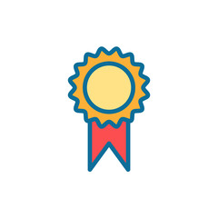 Award flat vector icon sign symbol