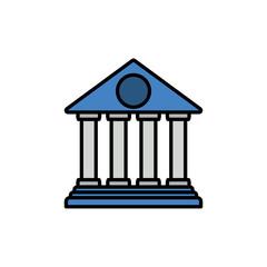 Bank flat vector icon sign symbol