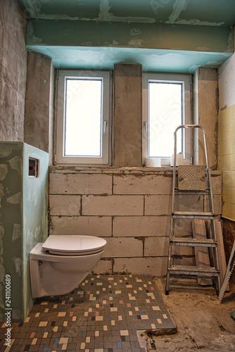 Baustelle Trockenbau WC Badezimmer\