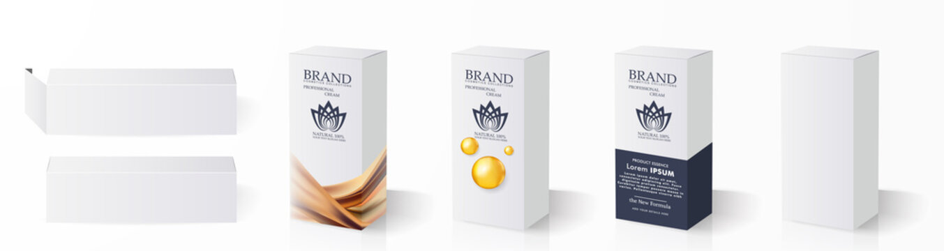 Box, packaging template for product vector design illustration.