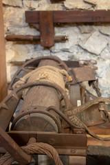 Laminoir ancien en bois