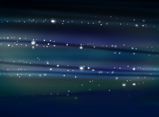 outerspace illustration, stars and milky way