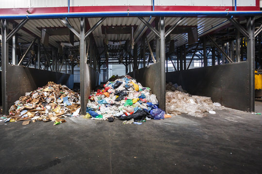 Separate garbage collection and waste sorting at the treatment processing plant. Recycling separate and storage of garbage for further disposal. Business for sorting and processing of trash.