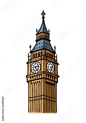 """Big Ben Tower London Great Britain clipart"" Stock image ..."