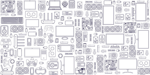 Gadgets and devices pattern