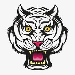 Vector illustration, Angry tiger head modification symbol