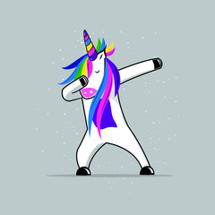 cute unicorn dabbing girls apparel stars