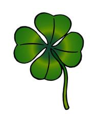 clover symbol of luck and Ireland clipart