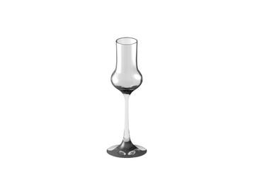 3D illustration of grappa glass isolated on white - drinking glass render