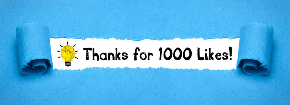 Thanks for 1000 Likes!