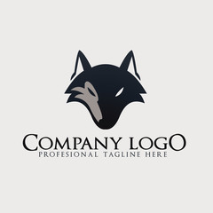 Wolf Abstract template logo design.