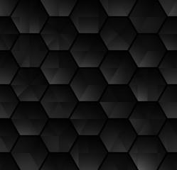 Abstract hexagonal background Dark geometric seamless pattern