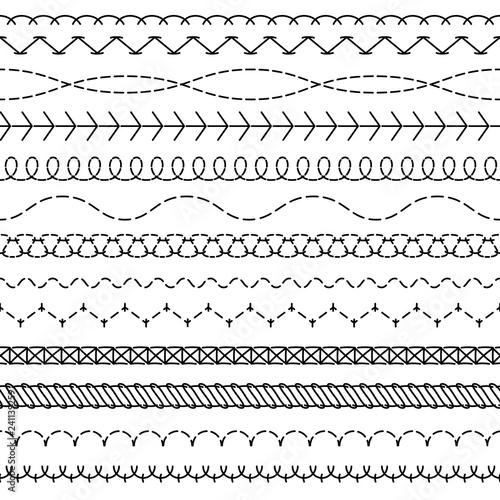 Embroidery stitches  Fashion fabric stitch sew edges sewing