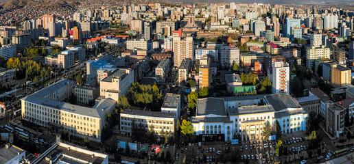Ulan Bator, die Hauptstadt der Mongolei von oben