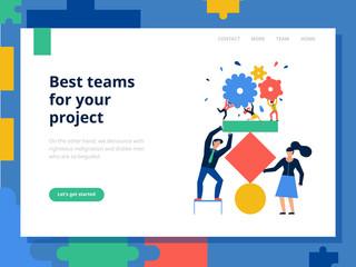Teamwork Page Concept