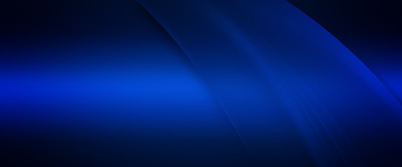 Elegant Abstract Blue Wave Background