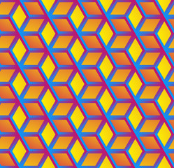 Abstract hexagonal background Dark geometric seamless pattern