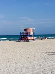 Rettungsschwimmer Hütte am Miami Beach in Florida