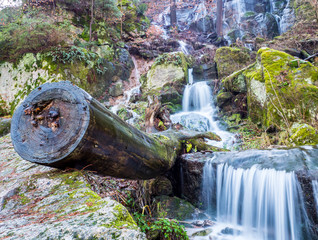 Blauenthal waterfall in the Ore Mountains
