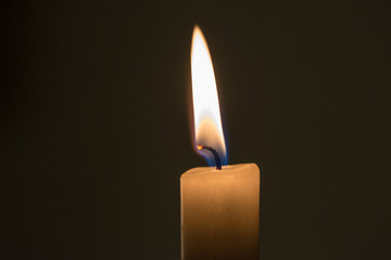 Soft and peaceful candle light closeup