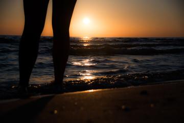 Wschód słońca nogi