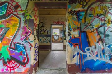 Graffiti wall brake through