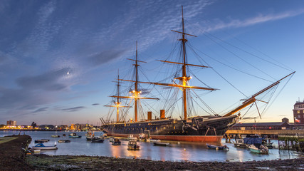 Printed kitchen splashbacks Ship HMS Warrior