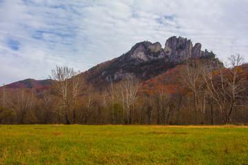 Seneca Rocks in Autumn, West Virginia