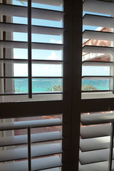 Blue Water View Through the Blinds