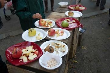 Food Market Apples Labeled