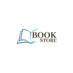 Bookstore Logo template. Design logo open book.