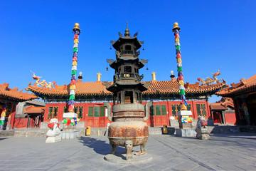 Foto op Canvas Barcelona Dazhao Lamasery building scenery, Hohhot city, Inner Mongolia autonomous region, China