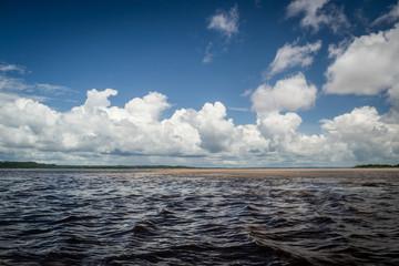 Cities of Brazil - Manaus, Amazonas - Encontro das Águas dos rios Negro e Solimoes