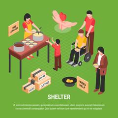 Shelter Isometric Poster