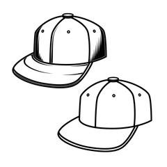 Baseball cap on white background. Design element for emblem, sign, badge.
