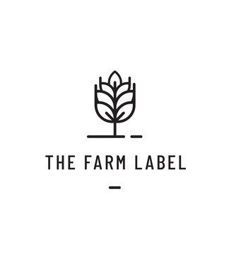 logo, label agricole pour meunier, blé, farine, biologique