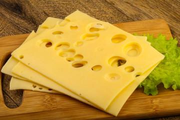 Fototapeta Sliced cheese obraz