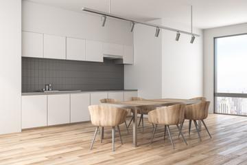 New kitchen interior with daylight