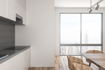 Stylish kitchen interior with daylight