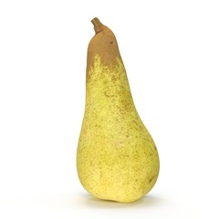 Long Yellow Pear 3D Illustration On White Background Isolated
