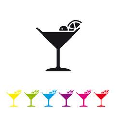 Manhattan Cocktail vector icon