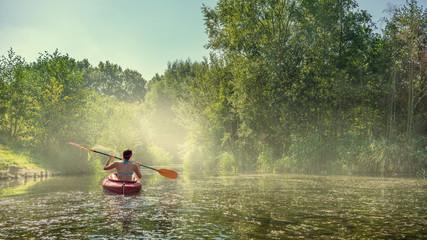 Kayaking in Leipzig Wall mural